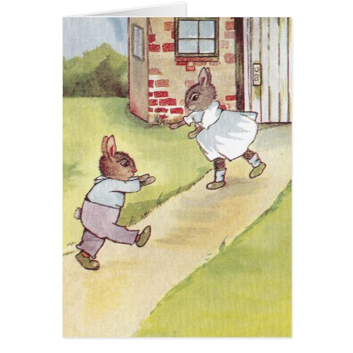La reunión de los conejitos tarjeta de felicitación