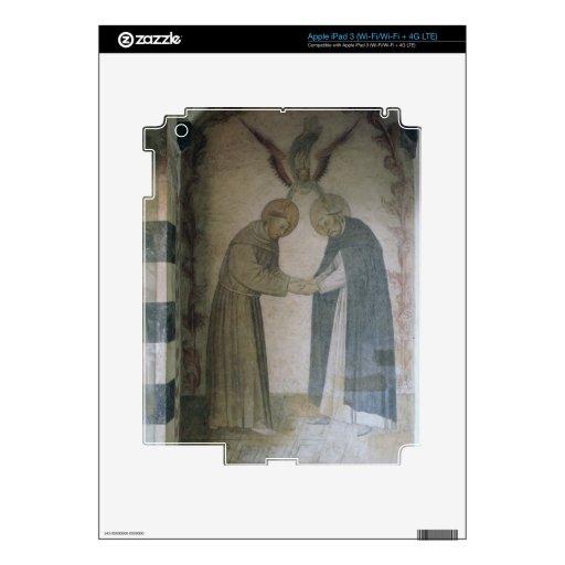 La reunión de St Dominic y de St Francis (fresco iPad 3 Pegatina Skin