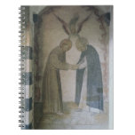 La reunión de St Dominic y de St Francis (fresco Cuaderno
