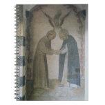 La reunión de St Dominic y de St Francis (fresco Libros De Apuntes Con Espiral