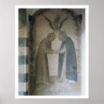 La reunión de St Dominic y de St Francis (fresco Póster