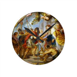 La reunión del arte de Abraham y de Melchizedek Reloj Redondo Mediano