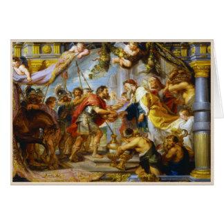 La reunión del arte de Abraham y de Melchizedek Ru Tarjeta Pequeña
