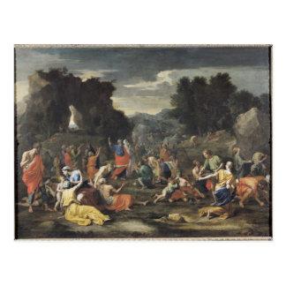 La reunión del maná, c.1637-9 postal