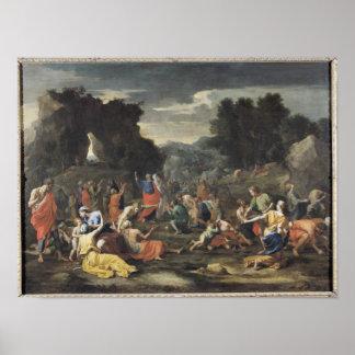 La reunión del maná, c.1637-9 póster