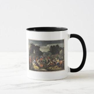 La reunión del maná, c.1637-9 taza