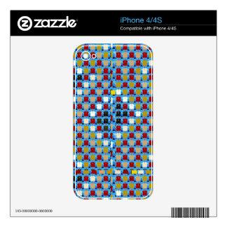 La reunión del modelo de la textura de NOVINO iPhone 4S Skin