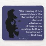 La reunión del mousepad de dos personalidades