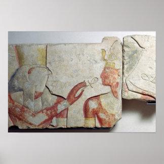 La reunión del Pharaoh y del Horus Póster