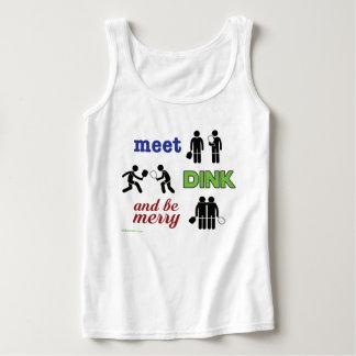 """La """"reunión, Dink, y sea felices"""" camisetas sin Playera De Tirantes Básica"""