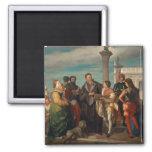 La reunión entre Titian (1488-1576) y Verones Imán Cuadrado
