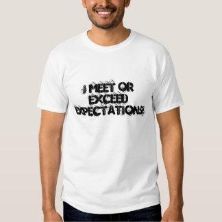 La reunión o excede la camisa