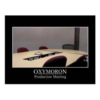 La reunión productiva es un oxymoron tarjeta postal