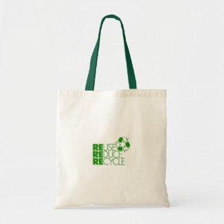 la reutilización reduce recicla bolsa tela barata
