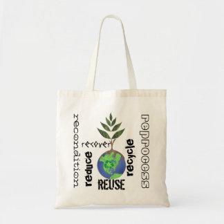 La reutilización reduce recicla el globo de la bolsa
