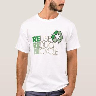 La reutilización reduce recicla la camiseta