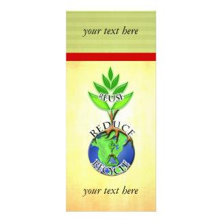 La reutilización reduce recicla tarjeta publicitaria personalizada
