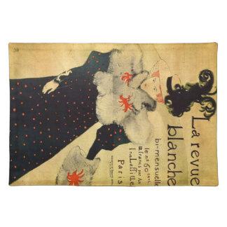 La reveu blanche by Toulouse-Lautrec Cloth Placemat