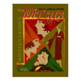 La revista de noviembre del amigo de la bruja tarjetas postales