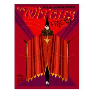 La revista de octubre del amigo de la bruja tarjeta postal