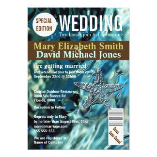 La revista del boda de playa de las estrellas de m