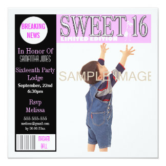La revista del dulce dieciséis rosada PERSONALIZA Comunicados Personalizados