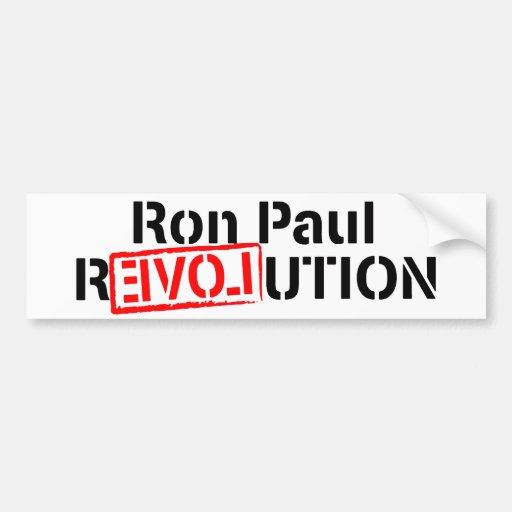 La revolución de Ron Paul continúa Pegatina De Parachoque