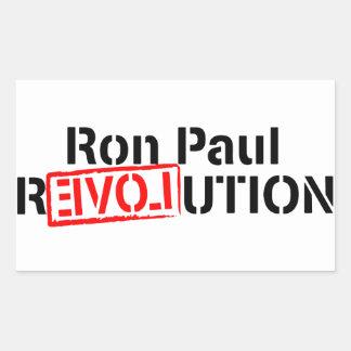 La revolución de Ron Paul continúa Pegatina Rectangular
