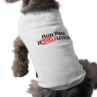 La revolución de Ron Paul continúa Playera Sin Mangas Para Perro