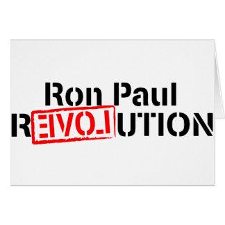 La revolución de Ron Paul continúa Tarjeta De Felicitación
