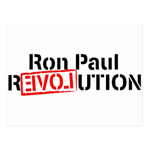 La revolución de Ron Paul continúa Tarjeta Postal