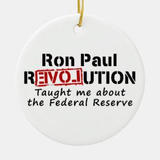 La revolución de Ron Paul me enseñó a Federal Adorno Navideño Redondo De Cerámica
