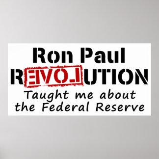 La revolución de Ron Paul me enseñó a Federal Rese Póster
