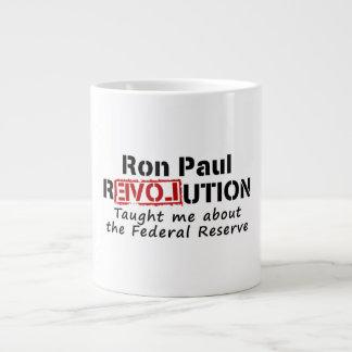 La revolución de Ron Paul me enseñó a Federal Rese Taza De Café Gigante