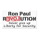 La revolución de Ron Paul nunca da para arriba lib Impresiones En Lona