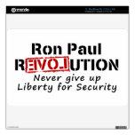 La revolución de Ron Paul nunca da para arriba lib Calcomanías Para MacBook