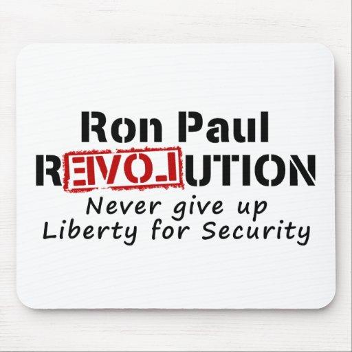 La revolución de Ron Paul nunca da para arriba lib Alfombrillas De Ratones