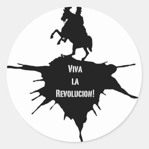 La Revolucion de Viva Pegatina Redonda