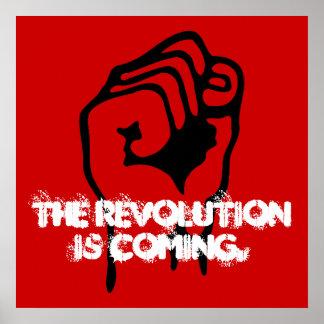 La revolución está viniendo posters