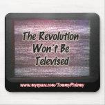 La revolución no será cojín de ratón televisado alfombrilla de raton