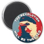 La revolución será piada iman de frigorífico