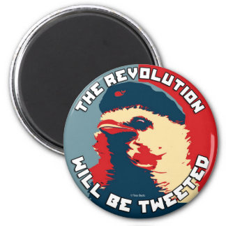 La revolución será piada imán redondo 5 cm