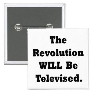 La revolución será televisada pin cuadrado