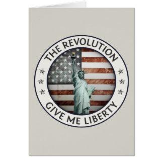 La revolución tarjeta de felicitación