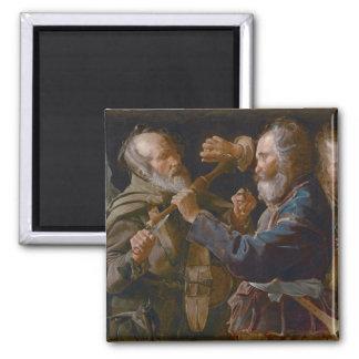 La reyerta de los mendigos, c.1625-30 (aceite en l iman para frigorífico