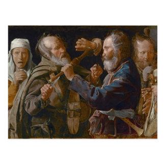 La reyerta de los mendigos, c.1625-30 (aceite en l postal