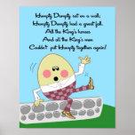 la rima de 11x14 Humpty Dumpty embroma arte de la  Impresiones