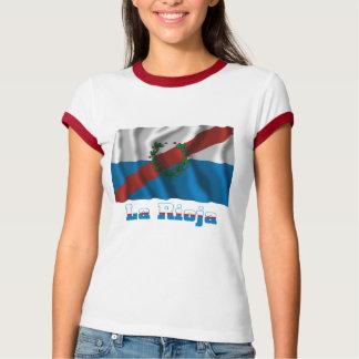 La Rioja waving flag with name Tshirt