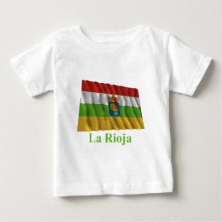 La Rioja waving flag with name Tee Shirt