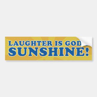 La risa es pegatina de parachoque